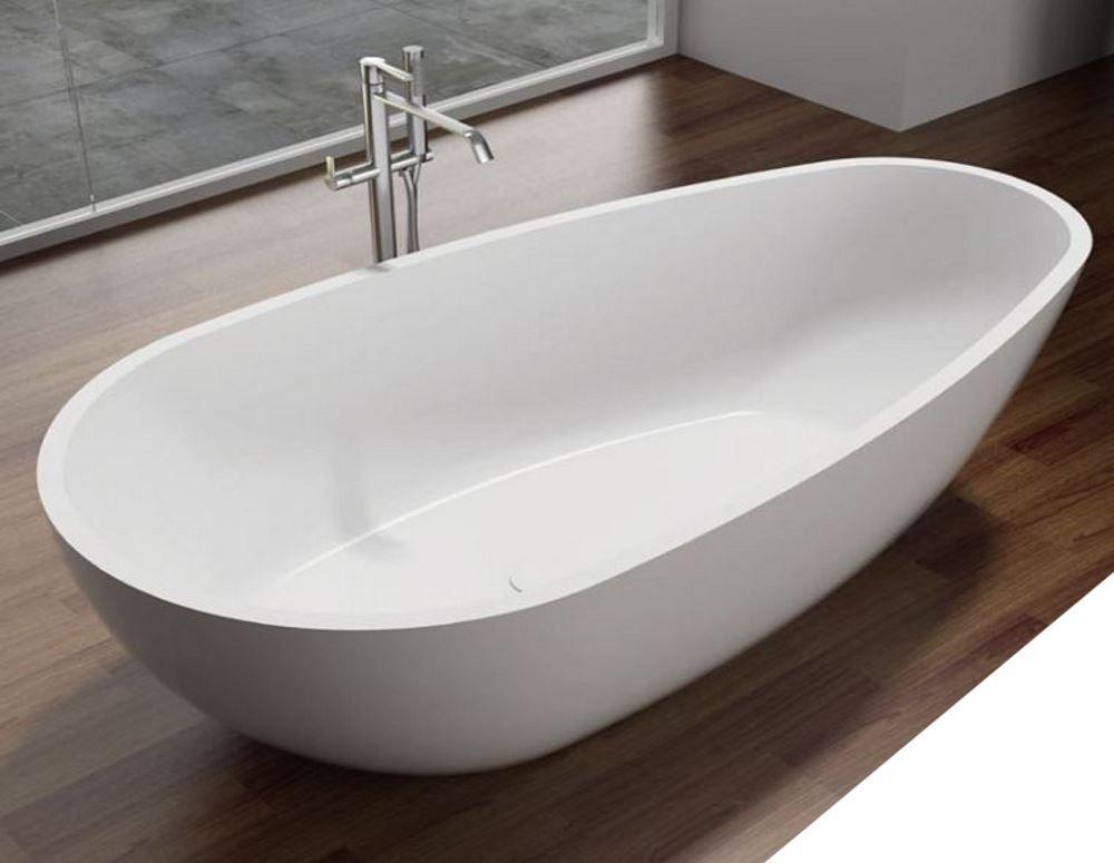 Vrijstaand Bad Mat Wit.Vrijstaand Bad Best Design Puur Mat Wit 180x90x58cm Solid Surface