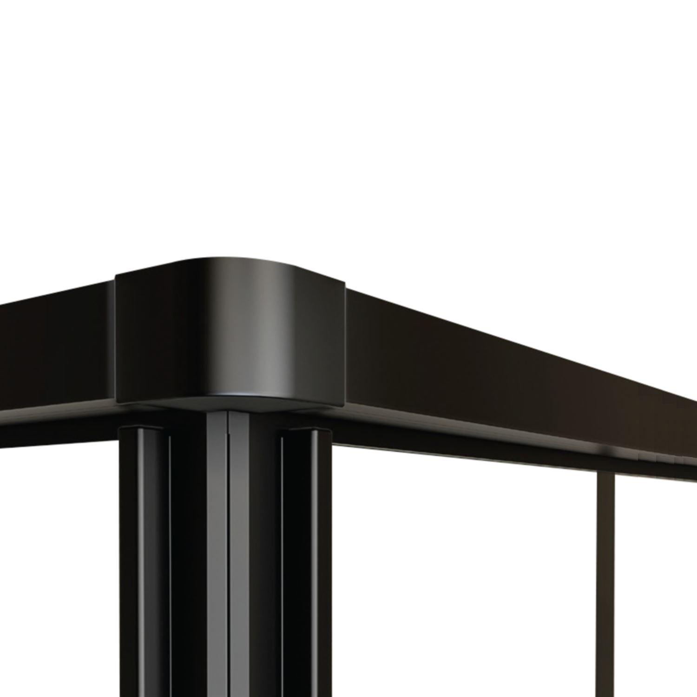 hoekinstap best design black corner 89x89x190 cm 4mm nano