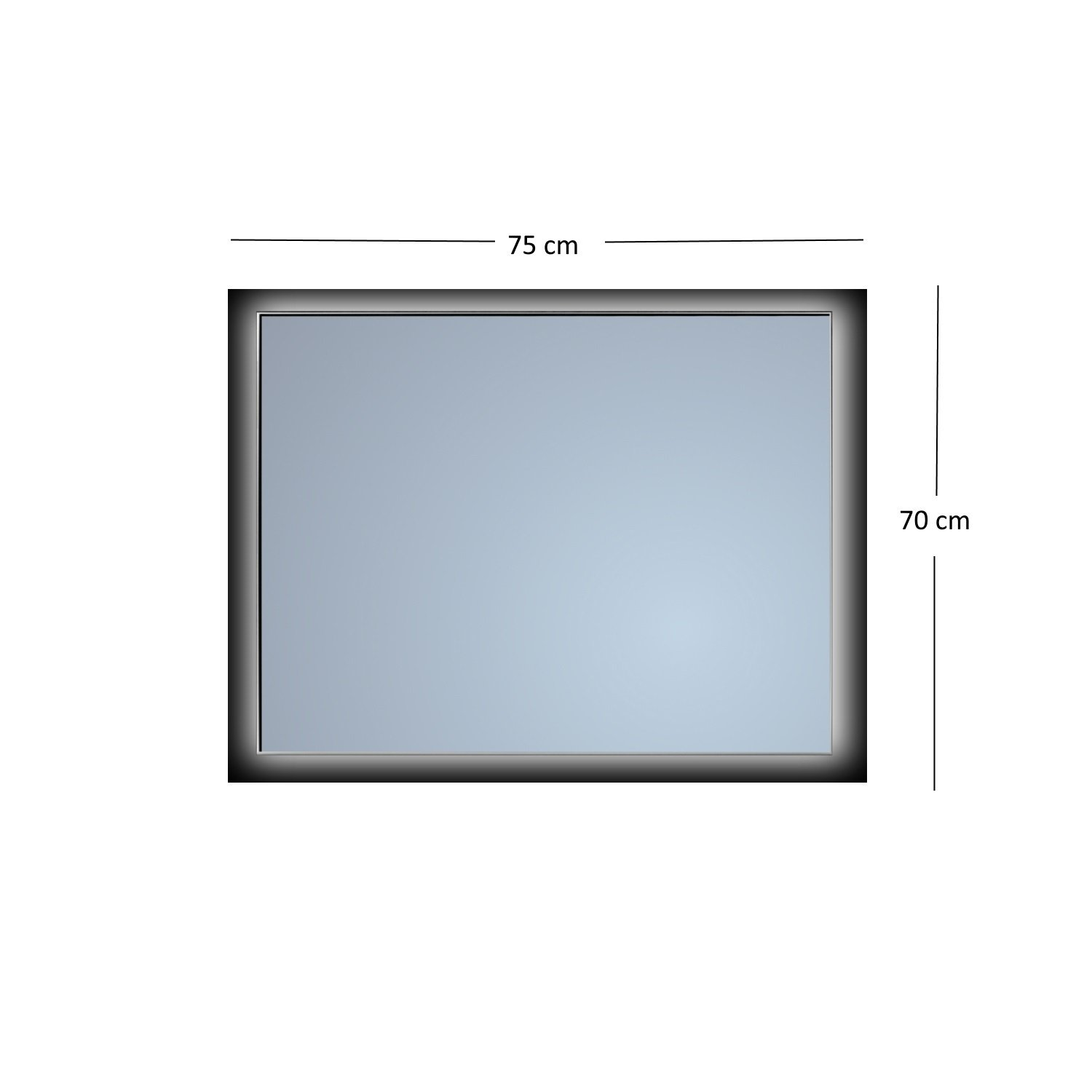 Badkamerspiegel Sanicare Q-Mirrors Ambiance \'Cool White\' LED ...