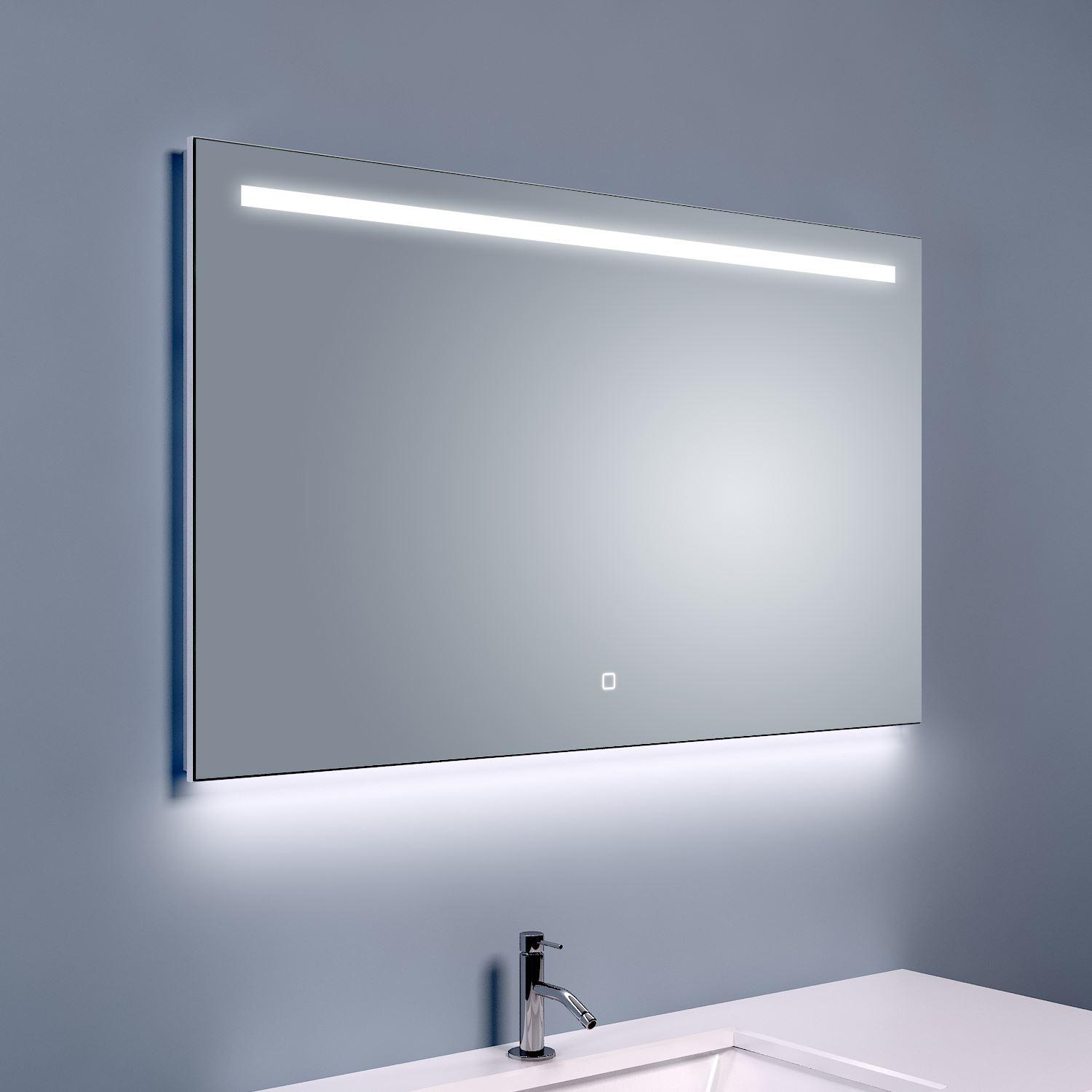 Bws ambi ledspiegel dimbaar one condensvrij 100x60 cm for Spiegel 100x60