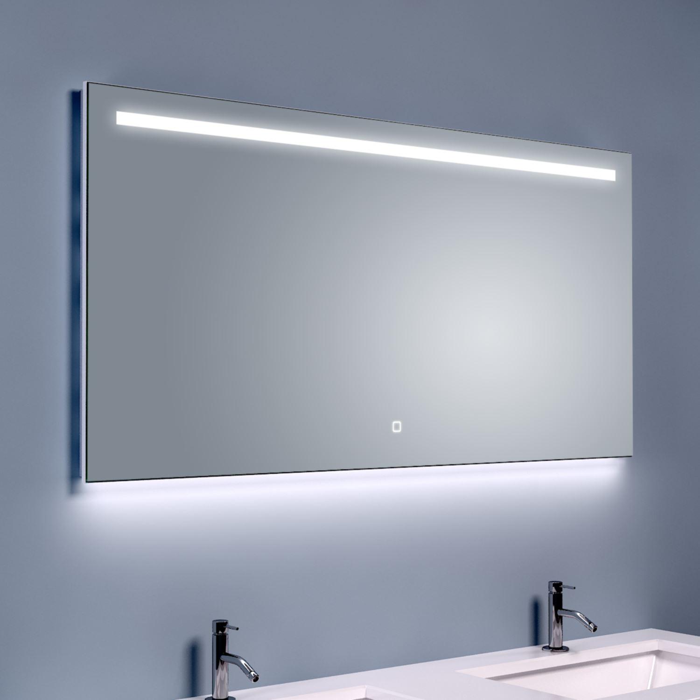 Bws ambi led spiegel dimbaar one condensvrij 160x60 cm for Spiegel 160x60