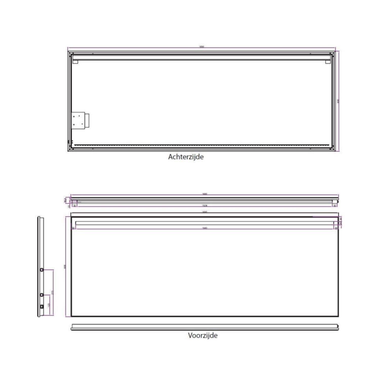 bws ambi led spiegel dimbaar one condensvrij 160x60 cm. Black Bedroom Furniture Sets. Home Design Ideas
