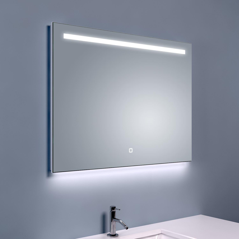 Bws ambi one led spiegel dimbaar condensvrij 80x60 cm for Spiegel 80x60