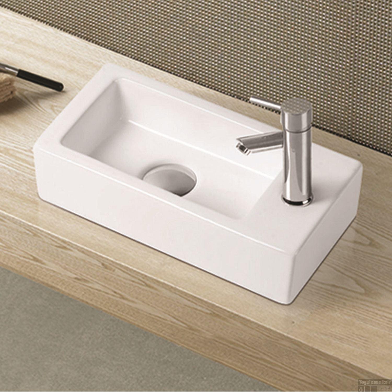 Mini Fontein Toilet.Fontein Wiesbaden Rhea Mini 36x18x9cm Kr G Rechts Badkamerdepot Be
