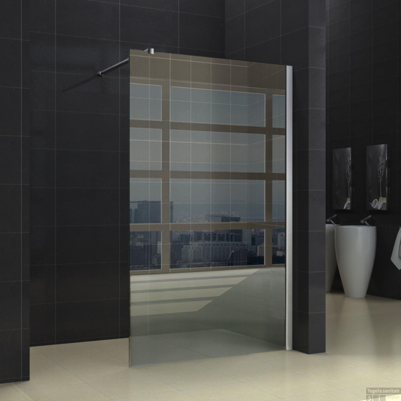Vaste Douchewand Glas.Douchewand Wiesbaden 120x200cm 10mm Nano Coating