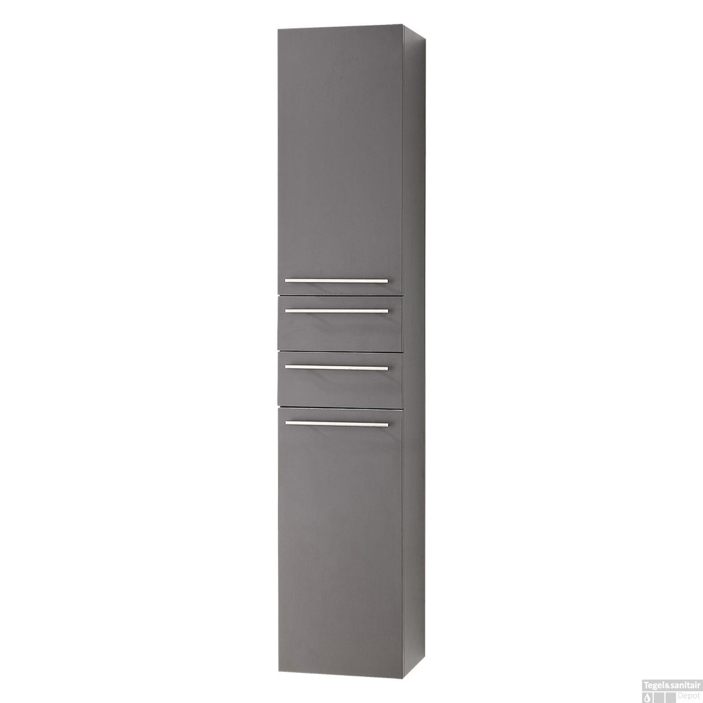 Badkamerkast Differnz Style 30x35x176 cm Antraciet Links