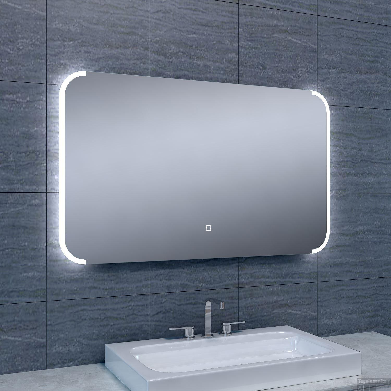 Spiegel wiesbaden bracket dimbare led alle maten for Badkamer spiegel 60x80
