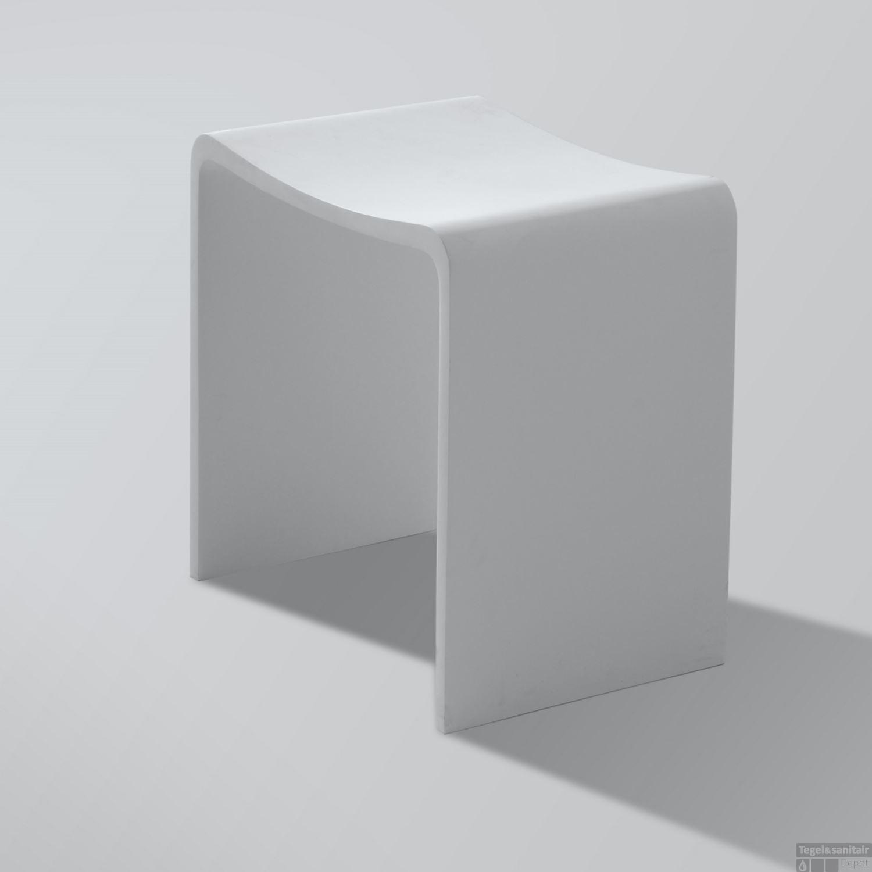 Badkamer Kruk Wiesbaden Solid Surface 40x30x42.5 cm Wit