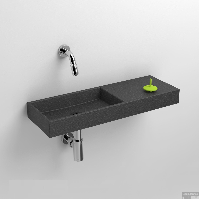 Mini Fontein Toilet.Fontein Clou Mini Wash Me 56x19x6cm Rechts Gezoet Basalt Zonder