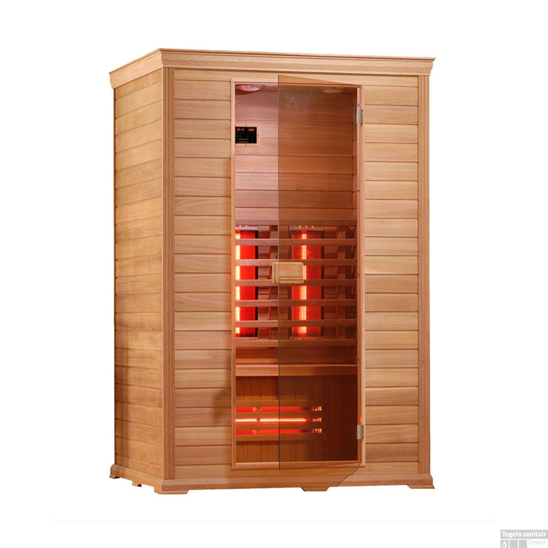 infrarood sauna classico 130x100 cm 2100w 2 persoons. Black Bedroom Furniture Sets. Home Design Ideas