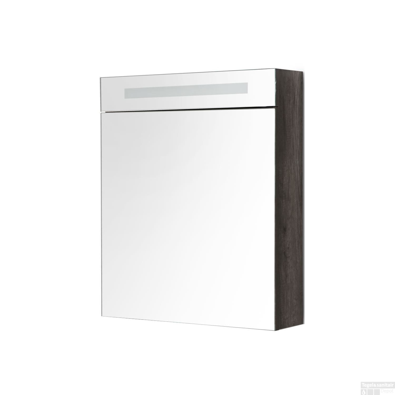 Spiegelkast Sanilux White Deluxe 58x70x16cm met TL verlichting en ...