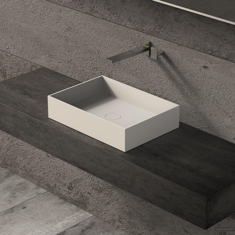 Wasbak Wit Rechthoekig.Opbouw Waskom Ideavit Solidjoy 50x35x11 Cm Solid Surface Mat Wit