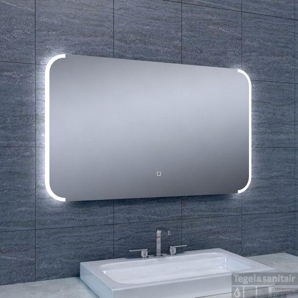 Spiegel Wiesbaden Bracket Dimbare LED Inclusief Spiegelverwarming (ALLE MATEN)
