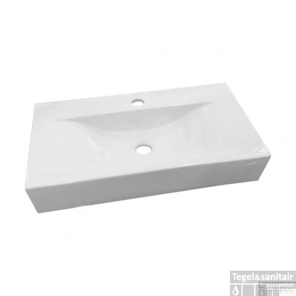 Wastafel Best Design Begee Rechthoek zonder overloop 59,5x32,5x11cm (met Kraangat)