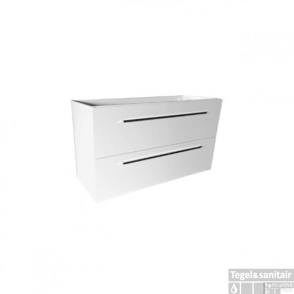 Onderkast Best Design Slim 100x56,5x35 cm Hoogglans Wit (exclusief wastafel)