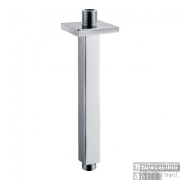 Luxe plafonduitloop vierkant plafondbevestiging 7.5 cm chroom