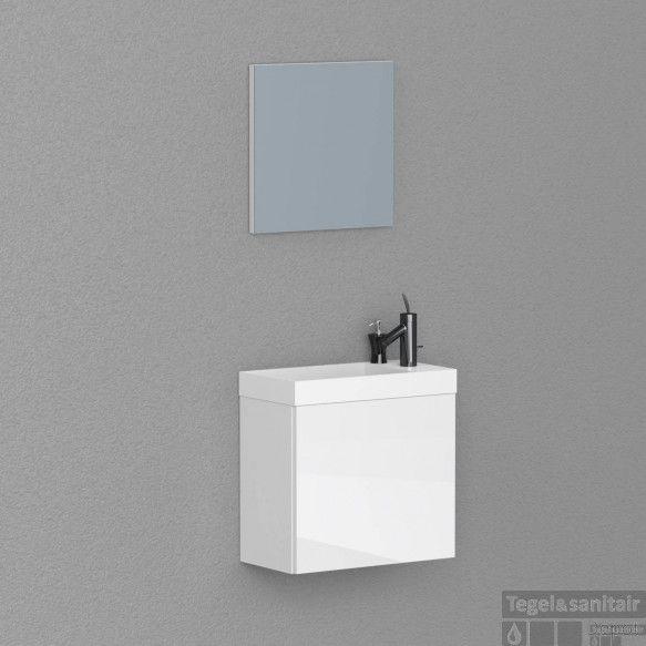 AKTIE! Fonteinkast model: Boss & Wessing Paris 40 cm Hoogglans Wit (met spiegel)