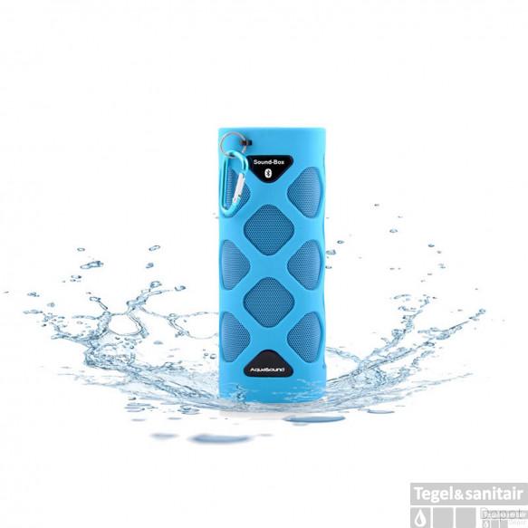 Bluetooth Sound-Box Aquasound Waterproof (IPX5) + USB oplaadkabel Blauw