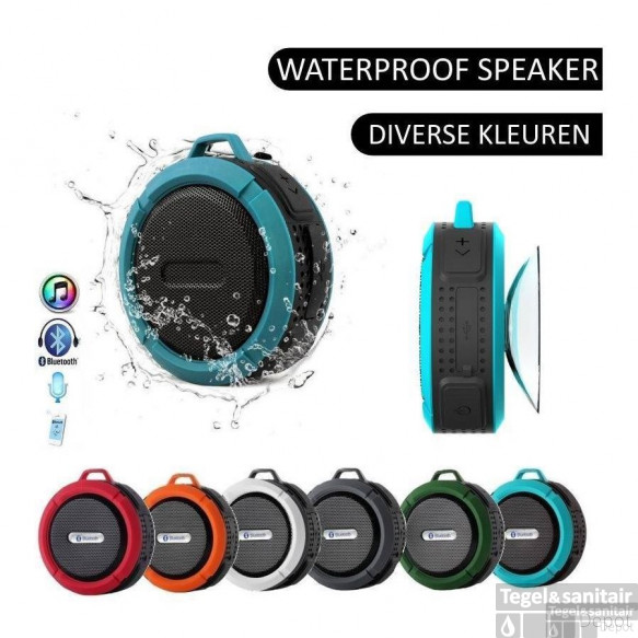 Speaker/Radio Waterbestendige Bluetooth Douche/Bad Mp3 Waterproof Groen