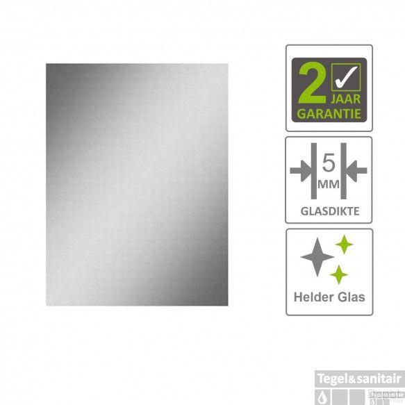 BWS Basis Spiegel Rechthoek 60x40 cm 5mm Aluminium
