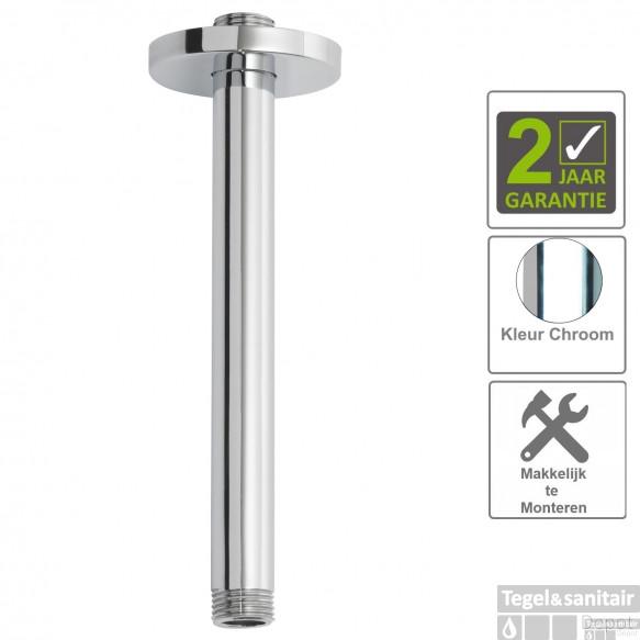 BWS Plafonduitloop Rond Luxe 20cm Chroom