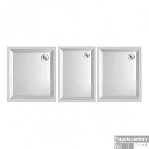 Douchebak Kwadrant Acryl wit 90x80cm rechthoek 4.5 cm hoog