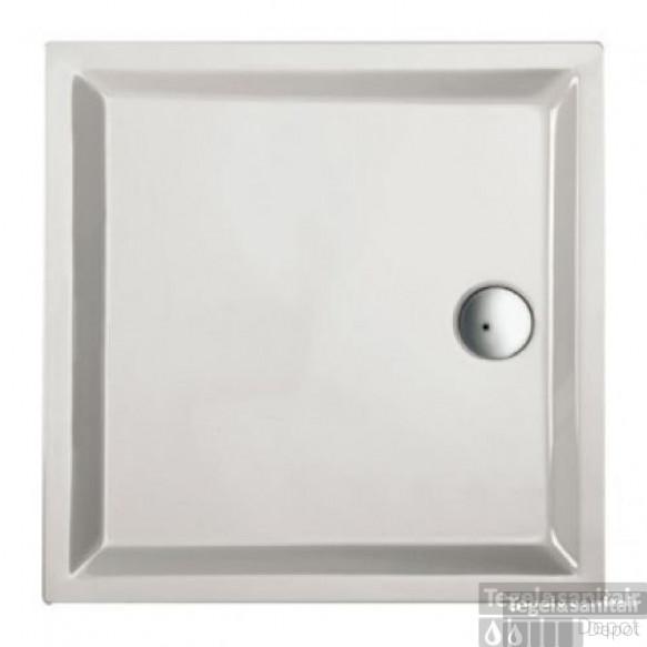 Douchebak acryl+ wit 90 x 90 cm vierkant 4cm hoog