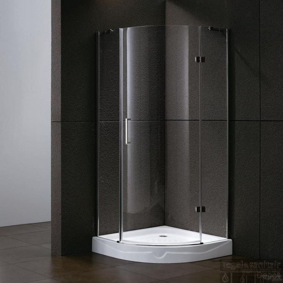 Douchecabine Sanilux Sharon kwartrond 1 deur 100x100cm 6mm
