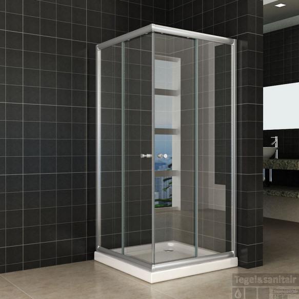 Douchecabine Wiesbaden Aktie Hoekinstap 90x90x190 cm 5mm Helder Glas