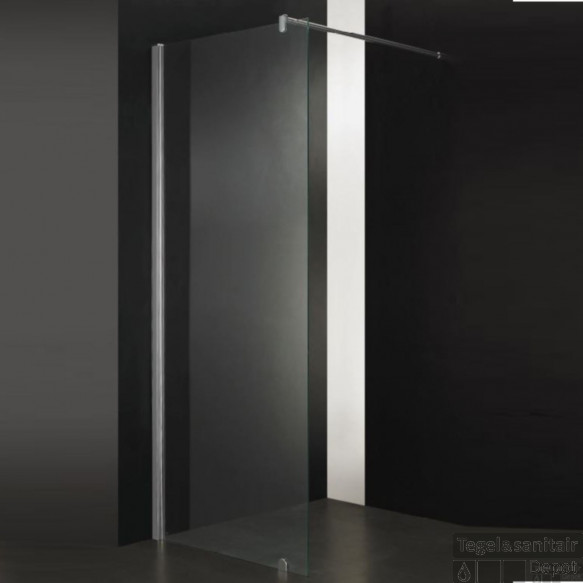 Douchewand Sanilux 55x200 cm met Muurprofiel 10mm Helder Glas Taylor Protect
