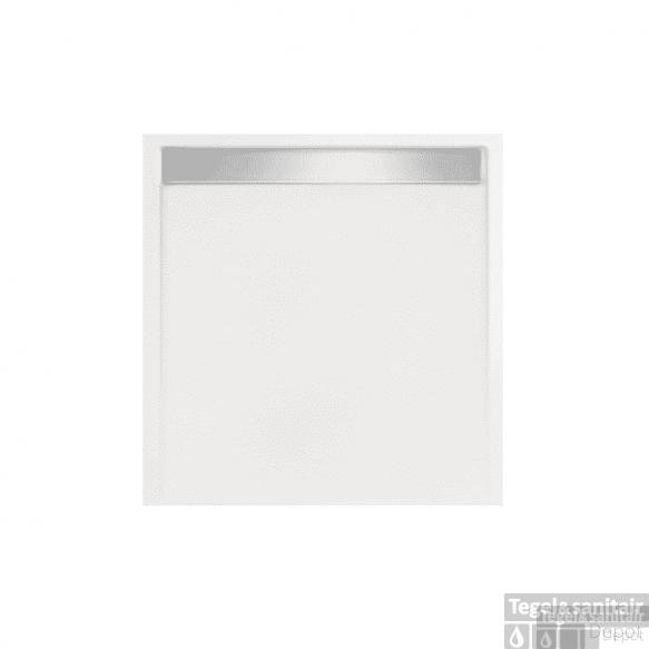 Douchebak vierkant zelfdragend Easy Tray 80x80x5cm gootcover Mat