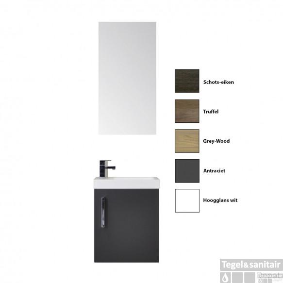 Fonteinkast Sanicare Q40 1 Soft-Closing Deur Chromen Greep (alle kleuren)