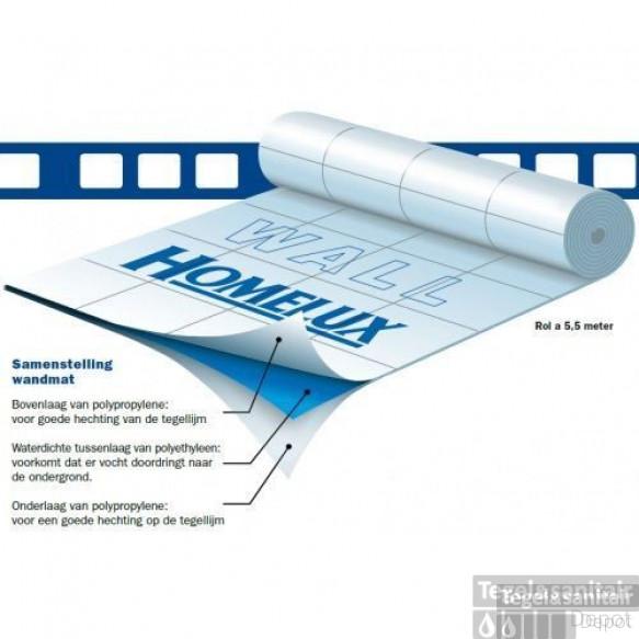 Homelux waterdichte wandrol 1,0x5,5 mtr