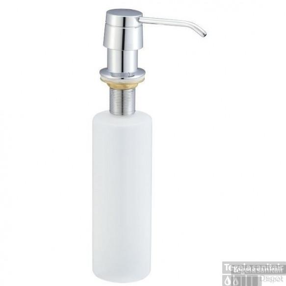 Inbouw zeeppompje chroom kunststof fles 250ml