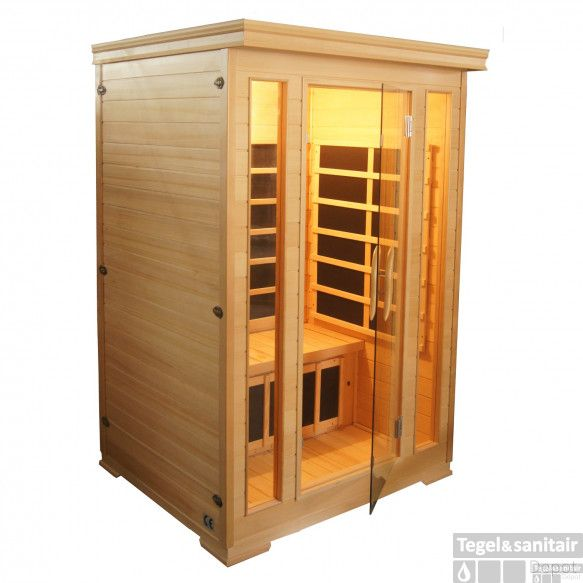 Infrarood Sauna Komfort 125x120 cm 1850W 2 Persoons