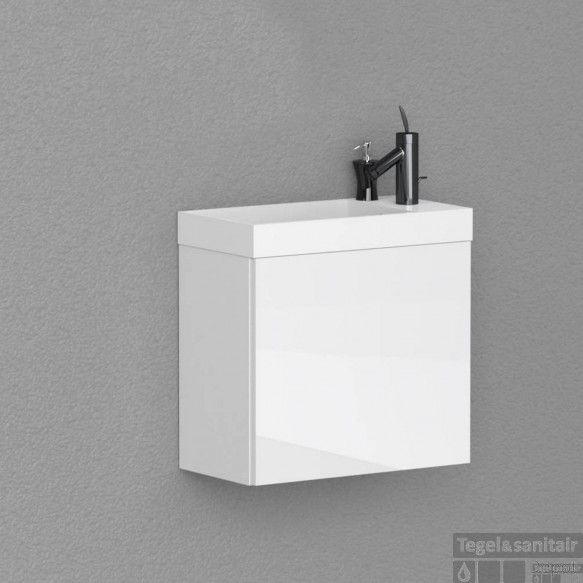 AKTIE! Fonteinkast model: Boss & Wessing Paris 40 cm Hoogglans Wit (zonder spiegel)