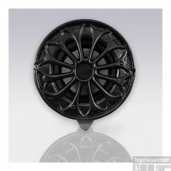Deurrooster Weckx Retro Rond Extra Luchtdoorlaat 18.5 cm Zwart