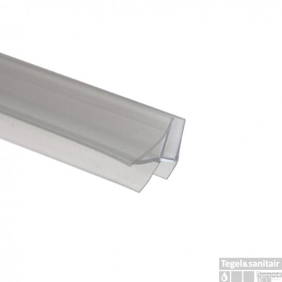 Afdichtprofiel Douchedeurstrip Sealskin Horizontaal met aansluit-/afsluitdelen voor 6 mm (per stuk)