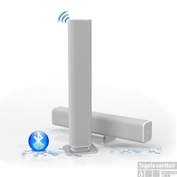 Sound-bar Aquasound Waterdicht (IPX5) Bluetooth 4.0 Wit 45 cm 25 Watt (230V/12V)