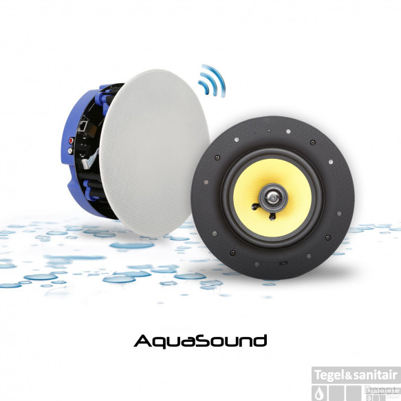 Speakerset Aquasound Move Bluetooth 4.0 Wit (21cm) 70 Watt (230V/12V)