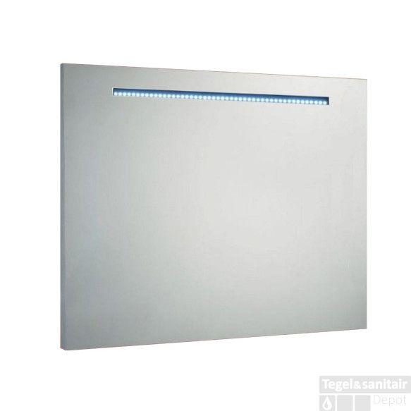Spiegel Sanilux Mirror 100x80x4.5cm Aluminium met LED verlichting