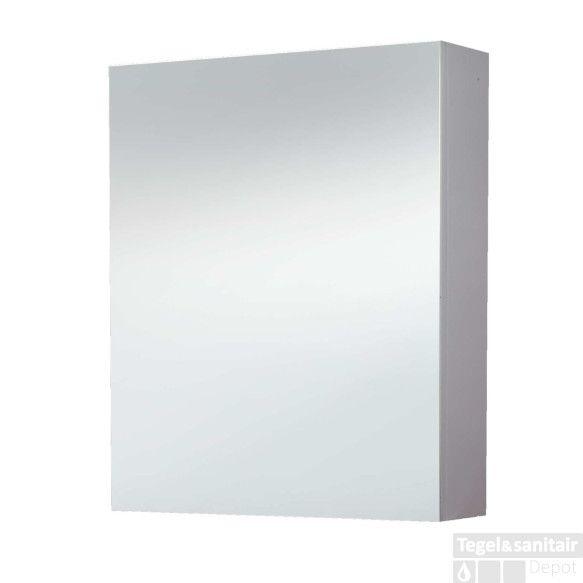 Spiegelkast Sanilux White zonder verlichting Hoogglans Wit ...