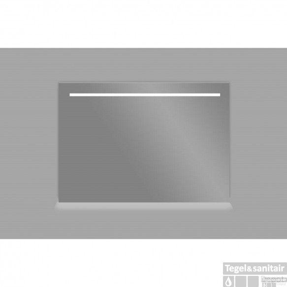 Spiegel Sanilux Mirror 80x70x4.5cm Aluminium met LED verlichting