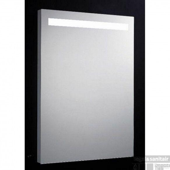 Spiegel Sanilux Mirror 58x80x4.5cm Aluminium met TL verlichting