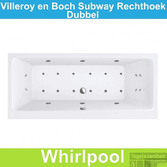 Ligbad Villeroy & Boch Subway 160x70 cm Balboa Whirlpool systeem Dubbel