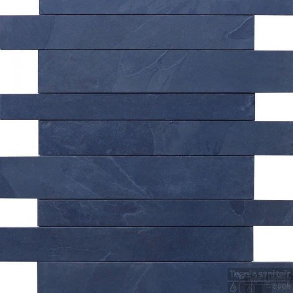 Natuursteen tegels Mustang black leisteen muurstroken (Doosinhoud 1 m²)