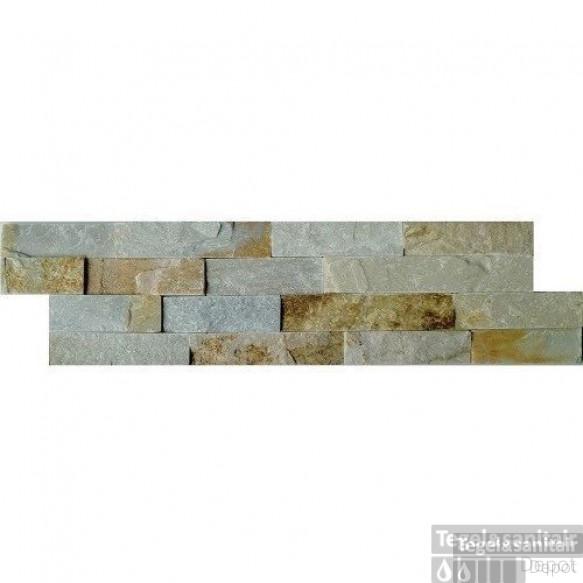 Wandtegel Schiste flatface stonepanel beige slate 15x60x2/3 (p/Stuk)
