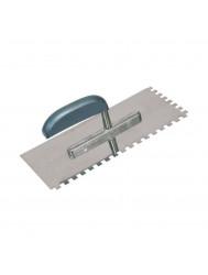 Plakspaan VETO met tanden (8x8 mm) RVS 28x13 cm