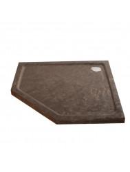 Natuursteen douchebak vijfhoek 4cm hoog 90x90cm