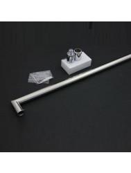 Losse Stabilisatiestang chroom 90cm. rond model